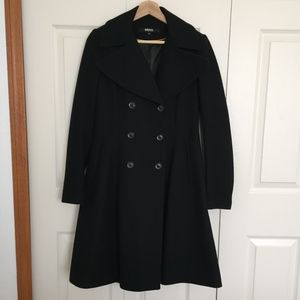 DKNY - DBL Breasted Wool Coat - Black - Size 2